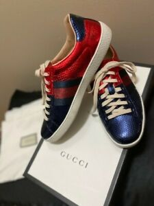 GUCCI Ayers Ace Red/Blue Sneakers (US Men's 8 or Women's 10)