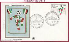 ITALIA FDC FILAGRANO COPPA DEL MONDO CALCIO MONDIALI ITALIA '90 1988 TORINO Z553