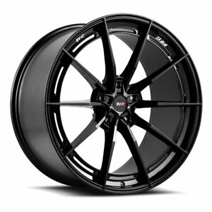 "19"" SAVINI SV-F1 FORGED BLACK CONCAVE WHEELS RIMS FITS FORD MUSTANG GT"