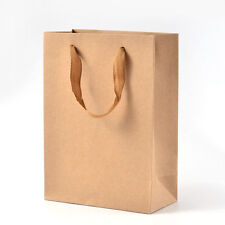 10PCS Rectangle Kraft Paper Pouches Gift Shopping Bags BurlyWood Packing Bags