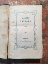 Almanacco Toscano per l'Anno 1858, Firenze Stamperia Granducale, 1858