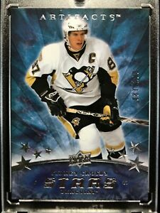 2008-09 ARTIFACTS STARS SIDNEY CROSBY 87/100 JERSEY NUMBER CARD # 160