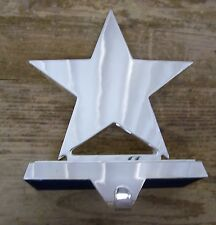 Pottery Barn Christmas Stocking Holder Mirror Star Heavy