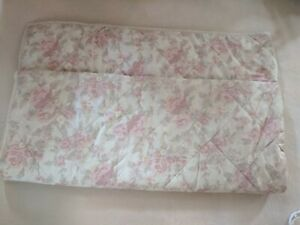 Sanderson PINK FAWN  Floral QUILTED DOUBLE Quilt Throw Bed Spread