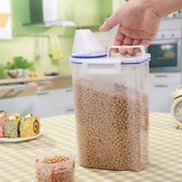 One Pack Cereal Dispenser Storage Box Kitchen Food Grain Food Rice Container 2L