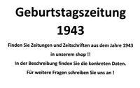 Geburtstagszeitung 1943 Zeitung vom / zum 77. Geburtstag Geschenk Film Theater