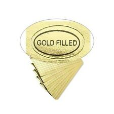 100 Peel Off Adhesive Labels Tags Oval 12 X 516 Marked Gold Filled