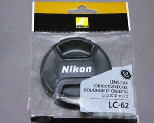 Nikon LC-62 / 62mm CENTRE PINCH CLIP ON LENS CAP FOR Nikkor from Japan free ship