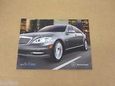 2012 Mercedes-Benz S Class S350 S400 S550 S600 sales brochure dealer catalog