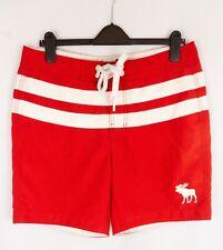 Abercrombie & Fitch Men Swimming Shorts Trunks Swimwear Red size L W34