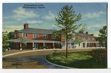 Williamsburg Lodge, Roadside America Williamsburg, Virginia 1930-45 Postcard