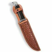 "LARGE LEATHER KNIFE SHEATH KIT for large knives BY TANDY - up to 7 1/2"" (19.1cm)"