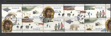 Canada 1995 Polar Bear/Plane/Dogs 10v pane vfu (n19617)