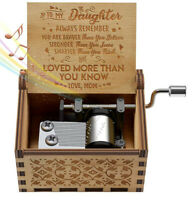 You are My Sunshine Wooden Vintage Music Box With Sankyo Musical Movement Gift