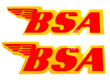 "BSA Decal peel and stick B44 41-8051 gas tank decals 7"" x 2-1/4"""