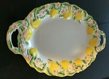 temp-tations Lemon basket weave platter with handles absolutely perfect !