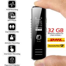 32GB Digital Diktiergerät Tragbar Aufnahmegerät Audio Sound Voice Recorder MP3/