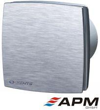Ventilator Vents 100 LDA Badlüfter Wandlüfter Ø 100 Standard Aluminium-Front
