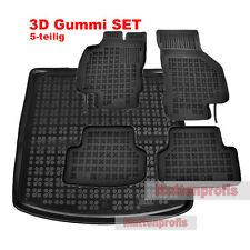 3D Gummimatten + Kofferraumwanne oben für Seat Leon III 5F ST Kombi ab Bj.2012 -