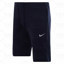 Mens Nike Logo Cotton Shorts - Sports Gym Training Knee Length Pants S Navy / White