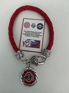 Ohio State Braided Charm Bracelet