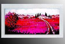 QUADRI MODERNI paesaggio toscana olio su tela  DIPINTI A MANO QUADRO ITALIANO
