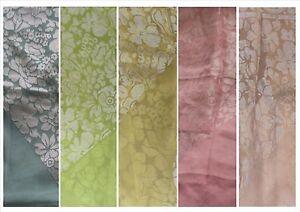 Burnout/Devore floral print satin on chiffon scarf £5.99 each 1.10x1.10metres