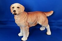 """Coopercraft Porcelain Labrador Dog Figurine Golden Retriever 7"""" Tall Ceramic"""