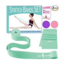RubyStretch 2 in 1 Exercise Ballet Stretch Bands Set for Kids & Adults + Gift Bo
