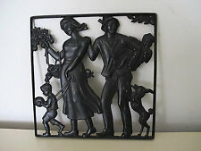 LAUCHHAMMER Reliefbild Moll  Moshage art deco vintage Iron wall panel um 1930