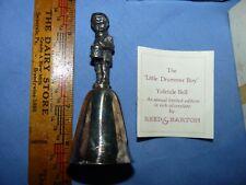 Little Drummer Boy Heavy Silverplate Yuletide Bell by Reed & Barton