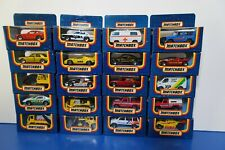 Matchbox 1987 checkered box Cars New Diecast Model-You pick your car
