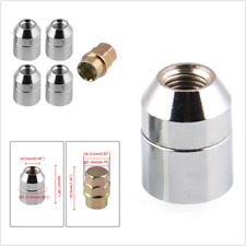 4+1 Universal Strong Steel Wheel Locks Nut M12x1.5 Chrome Locking Lug Nuts Parts