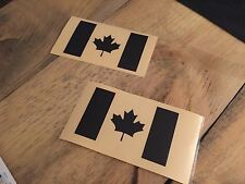 Pair Of Black REFLECTIVE Canadian flag jeep Decal Canada Flag Sticker