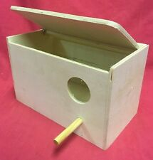 Breeding Wooden Nest Box Nesting Roost Bird Lovebirds Canary Finch Budgie 8x4.5""