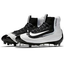 Men's Nike Air Huarache 2kfilth Elite Mid Metal Baseball Spikes Cleats Black 8.5