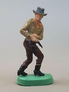 Üeier Cowboys auf Bodenplatten - Cowboy mit Colt 1975 - Altfigur nur 1 Nippel