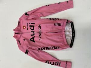 Audi Castelli Long Sleeve Thermal Jersey - Pink, Small