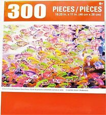 "Colorful Neon Siamese Glass Fish Puzzle 300 Pieces 18.25"" X 11"" Piece Puzzle NEW"