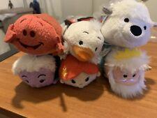 Disney Little Mermaid Tsum Tsum Plush Lot of 6 Sebastian Triton Ariel Ursula