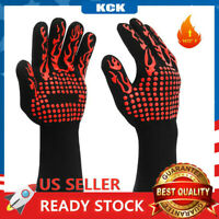 BBQ Grill Gloves 1472°F Extreme Heat Resistant Grilling Oven Mitts  Non-Slip