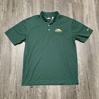 NEW Nike Anchor IPA Golf Shirt Mens Size Large Green NikeGolf Polo