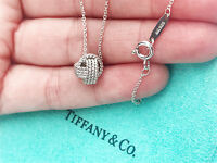 Tiffany & Co Sterling Silver Twist Knot Pendant Necklace 16 Inch