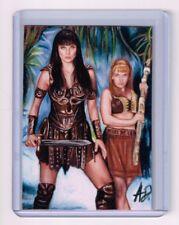 2018 ACEO Sketch Card XENA and GABRIELLE Warrior Princess 1/1