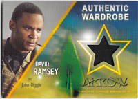 Cryptozoic Arrow 4 Costume Wardrobe Relic Card David Ramsey John Diggle M03