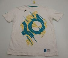 NIKE #T4491 Men's Size L Athletic Cotton KEVIN DURANT Basketball White Shirt