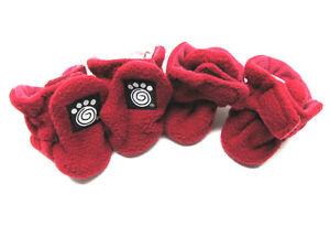 Petrageous Fleece Dog Boots Large Red