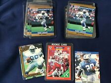 1990 Pro Set Football #1 Barry Sanders Lot of 7 Blank back Cards + 10 Regular