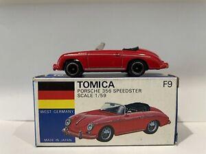 Tomica Tomy F9 Porsche 356 Speedster Made in Japan Original Box