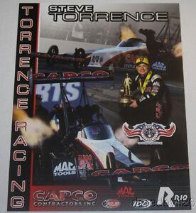 2016 Steve Torrence Capco Top Fuel NHRA postcard